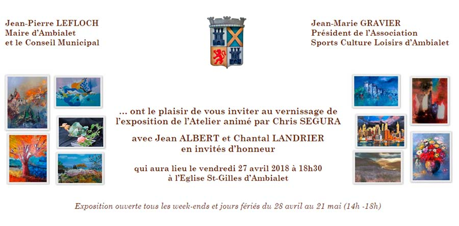 Vernissage At. Peinture, J. Albert, C. Landrier