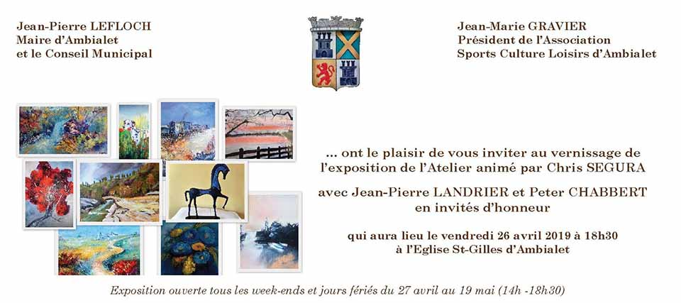 Vernissage At. Peinture, J-P. Landrier, P. Chabbert