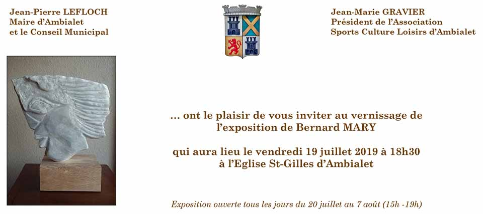 Vernissage Bernard Mary